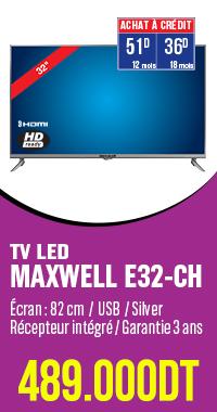 TV LED MAXWELL E32-CH