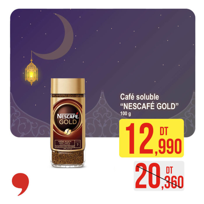 Café soluble NESCAFE GOLD